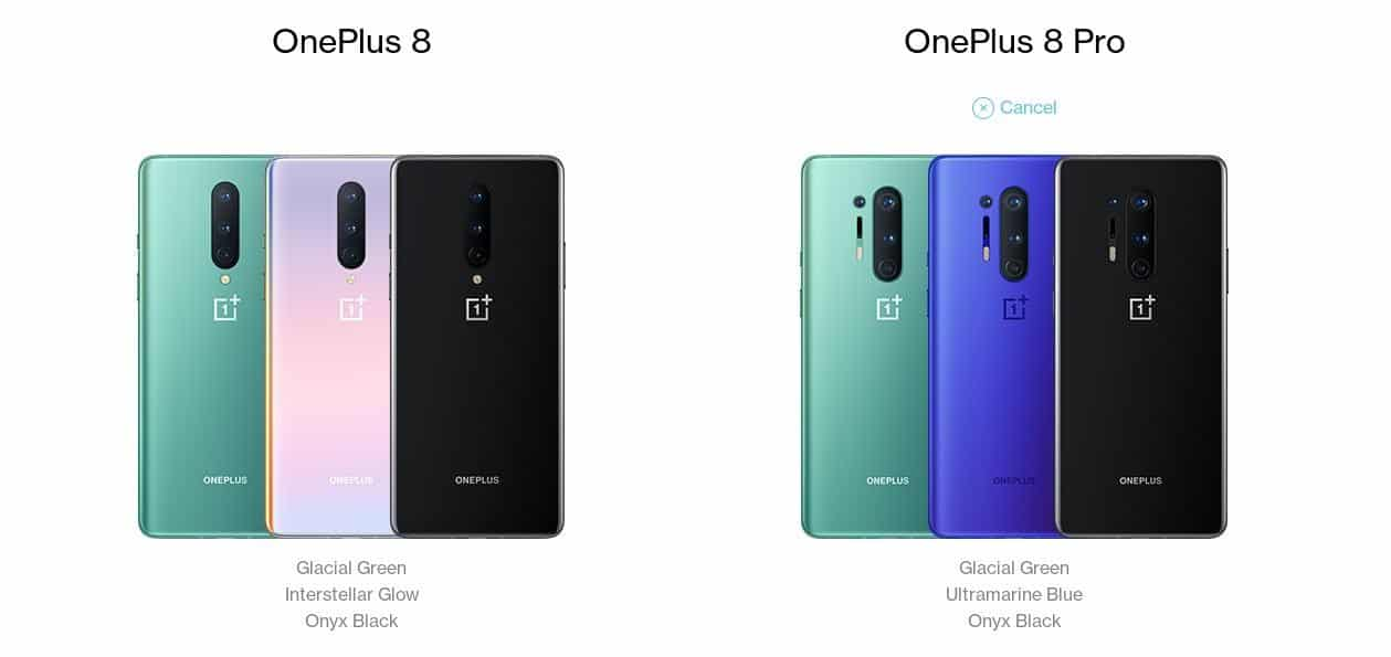 OnePlus 8 Colours (MOBHouse Productions)